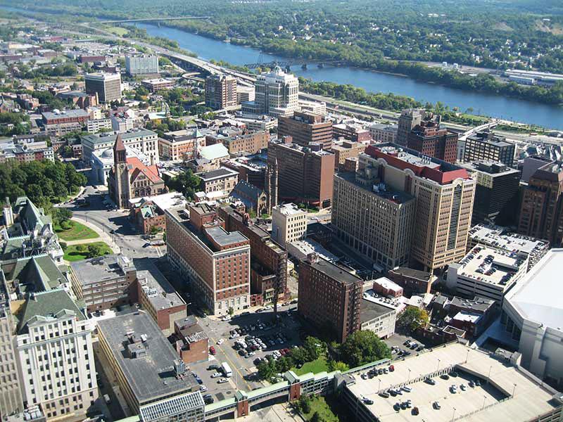 Albany vista desde el aire. / Foto: Skeat78-at-en. (Wikimedia Commons)