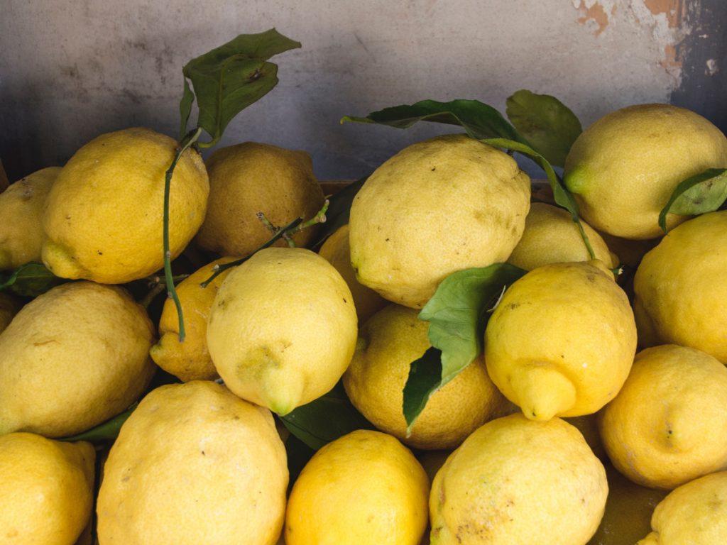 Limones en Sorrento / Foto: Gemma Evans (unsplash)